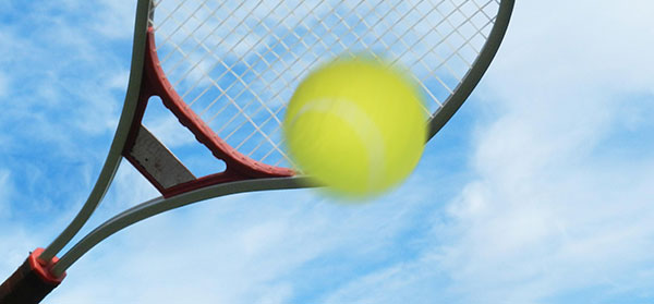 Tennis Raquet Hitting Ball Photo